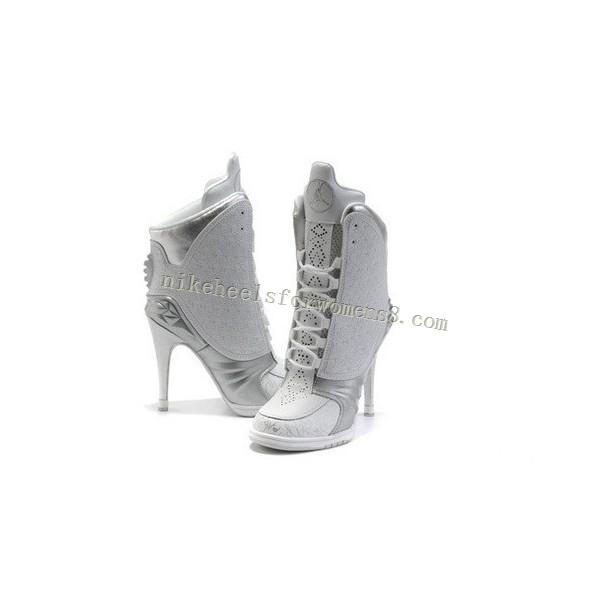 Hot sale Air Jordan 23 High Heels For Womens in White Grey http://www