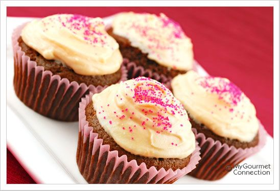 ... these light, moist cupcakes frosted with orange cream cheese frosting