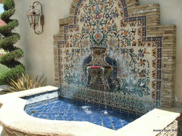 Spanish fountain against the wall maybe my world and - Spanish style water fountains ...