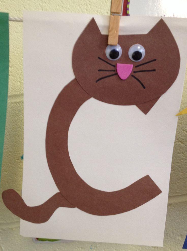 Preschool Letter C craft | 2 year old curriculum | Pinterest