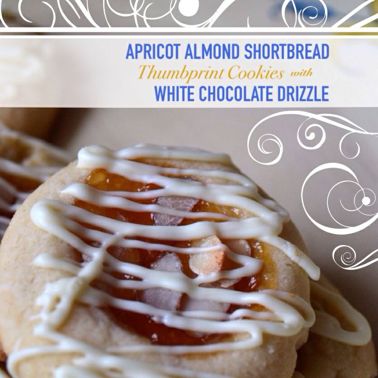 Apricot Almond Shortbread Thumbprint Cookies with White Chocolate ...