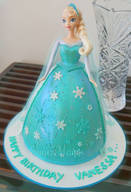Princess Elsa Cake Images : Elsa doll cake Cakes Pinterest