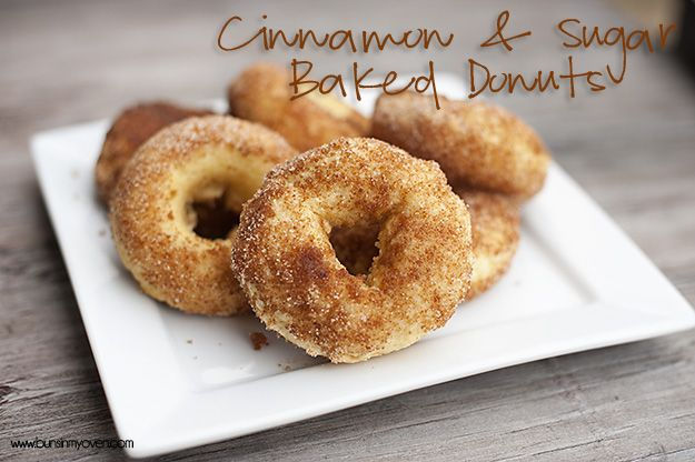 Cinnamon & Sugar Baked Cake Donuts