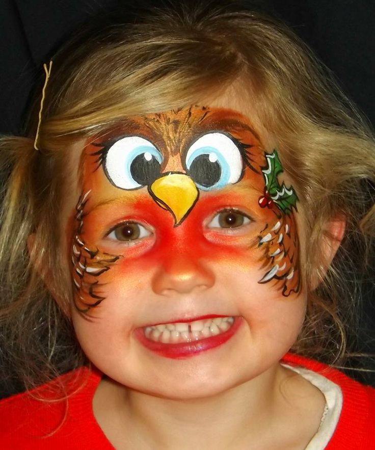 Christmas Robin By Kate Kelly Face Painting Pinterest