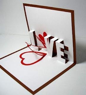 Super cute pop up card inside, but no instructions :(