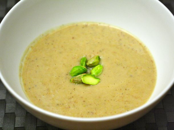 Pear, Pistachio, and Parsnip Soup from Serious Eats. http://punchfork ...