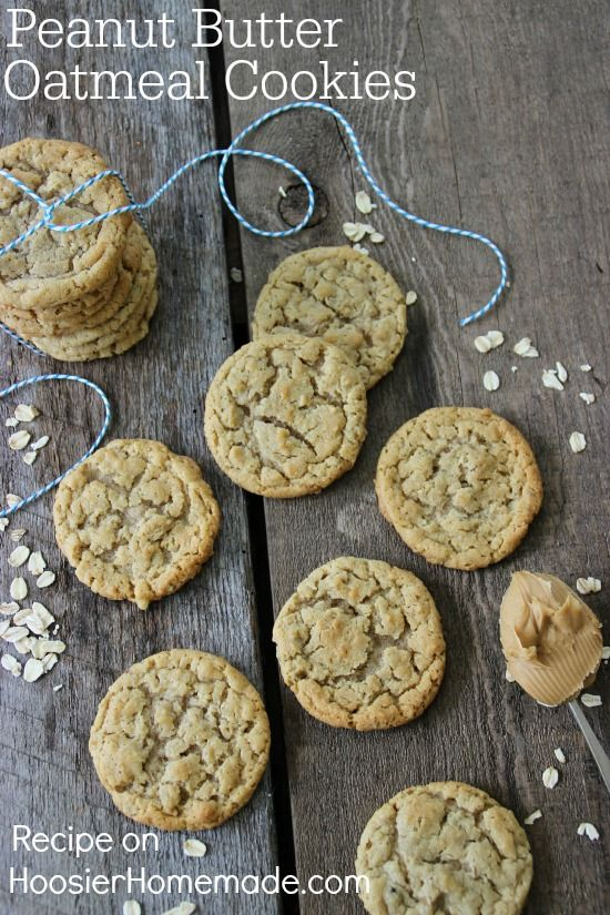 Peanut Butter Oatmeal Cookies   Recipe on HoosierHomemade.com