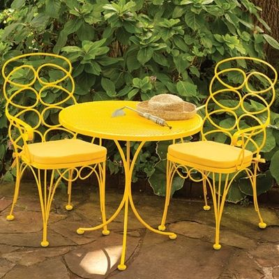 adorable yellow patio furniture homes pinterest