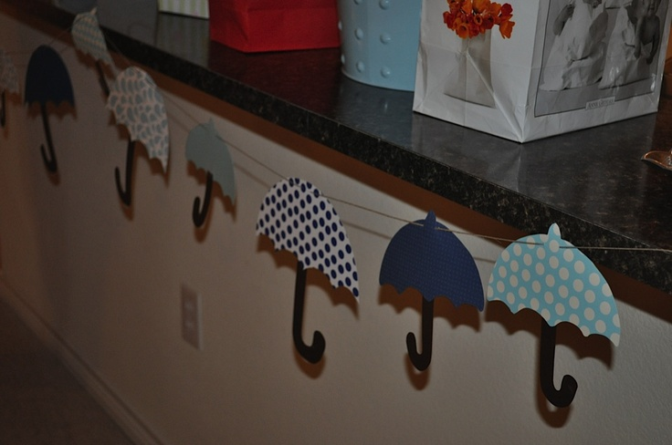 Umbrella Baby Shower Decorations
