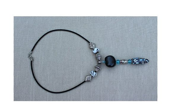 Black velvet rope necklace with turquoise by imibalainspirations, $16