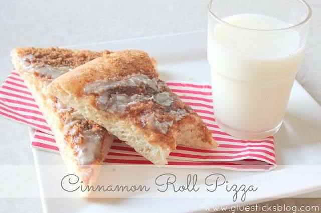 Cinnamon Roll Pizza 3/4 cup milk 1/4 c. margarine, softened 3 1/4 cups ...