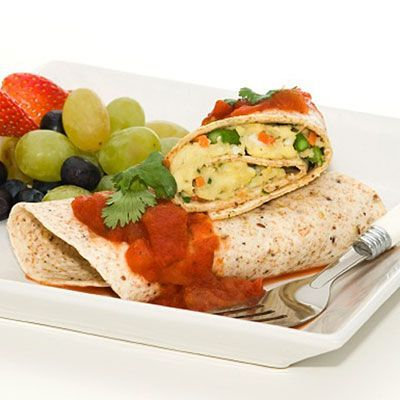 Healthy breakfast : Black Bean Breakfast Burrito #healthy #breakfast