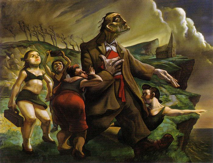 Peter Howson (Live, 'Throwing Copper' art) http://www.peterhowson.net/