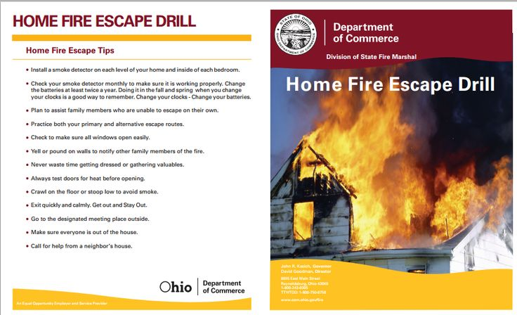 Home fire safety and escape plan expect the best but Home fire safety plan
