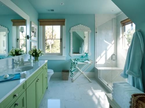 Blue And Green Turquoise Gold Bathroom Pinterest