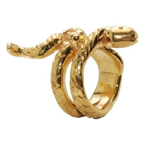14k Gold Plated Snake Ring - $200.