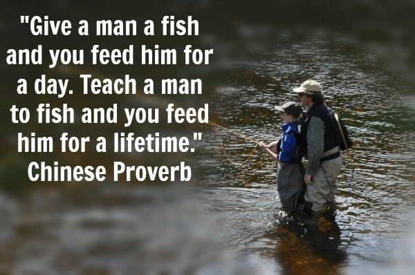 Always teach a man to fish controversy thought for Teach a man to fish