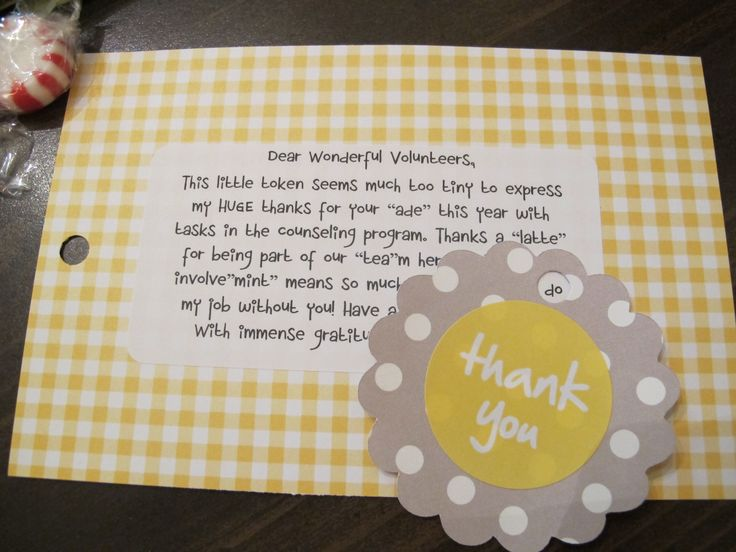 Thank You Message To Colleagues For Wedding Gift : Cute, Inexpensive Thank You Gift Idea Gifts Pinterest