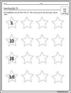 Count by 2s Worksheet   Teaching Loves ~ Math First   Pinterest
