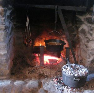 Cook in an Indoor Fireplace