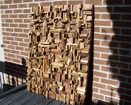 Wall ideas formal living room pinterest - Scrap wood decorated house ...