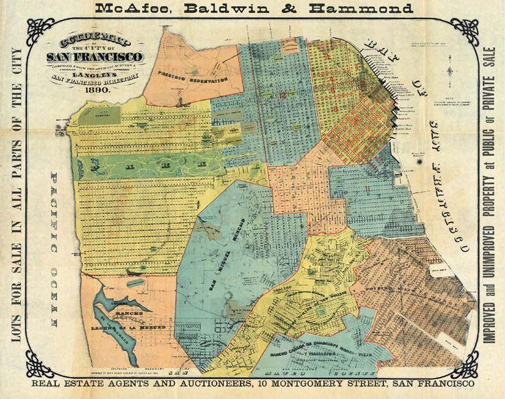 San Francisco Map Vintage Images Antique Map Of San Francisco - Vintage sf map