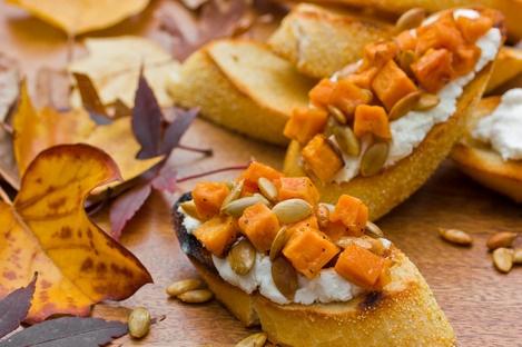Sweet Potato & Goat Cheese Bruschetta | Appetizers & Salty Snacks | P...