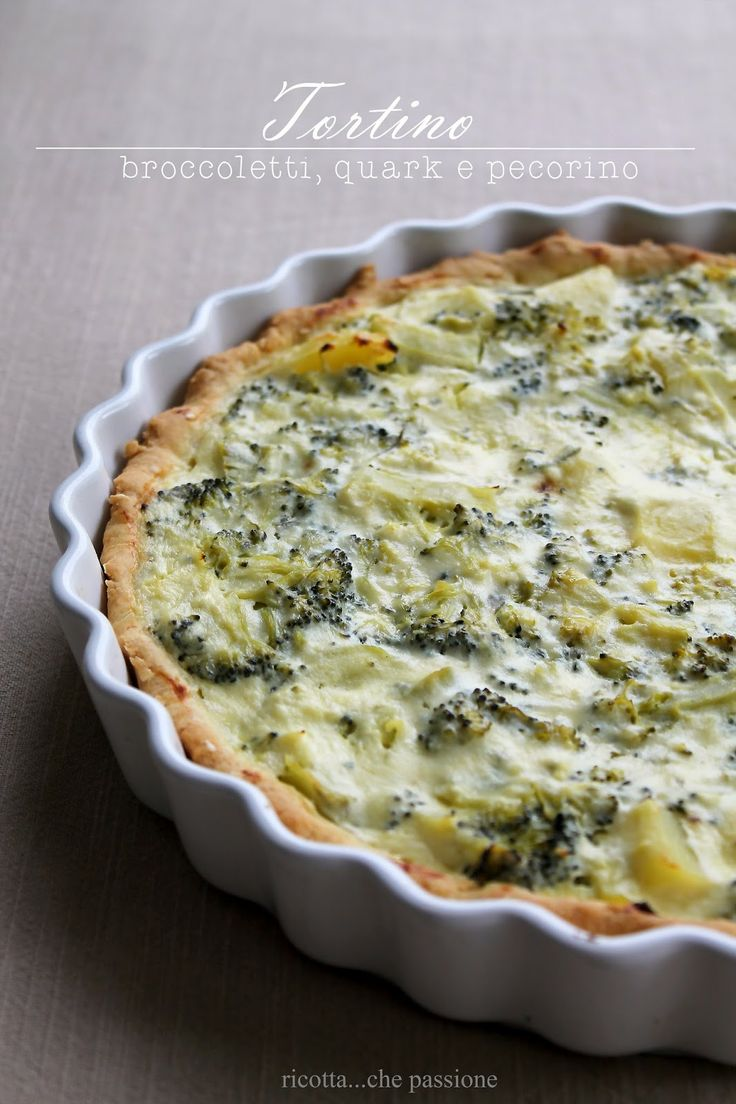 all natural, 'Broccoli, Quark (or sourcream) & Cheese Savory Pie'...