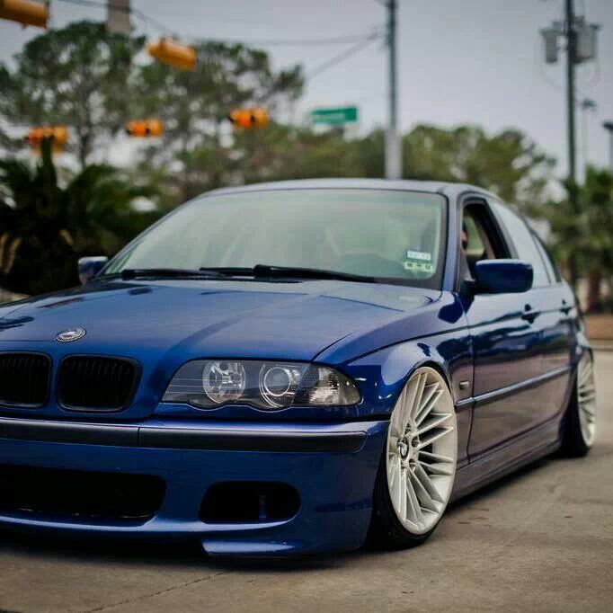 bmw e46 3 series blue slammed dream cars pinterest. Black Bedroom Furniture Sets. Home Design Ideas