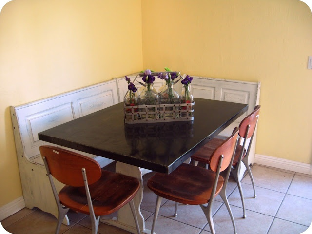 Diy kitchen table makeover part two - Kitchen table redo ...