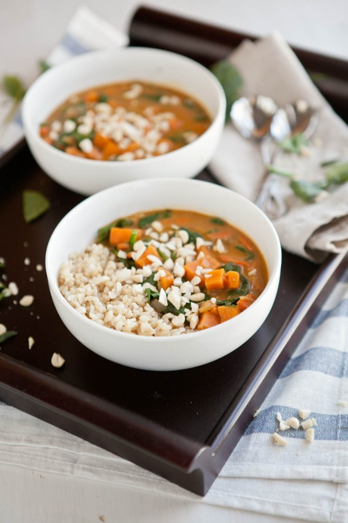 Peanut Stew with Sweet Potatoes and Spinach | New Roots