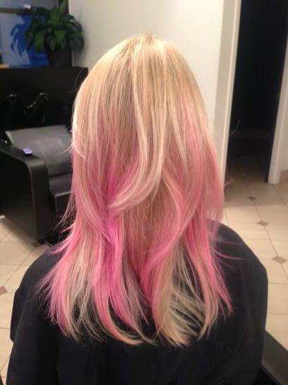 Dip Dye Ends  Hair  Pinterest