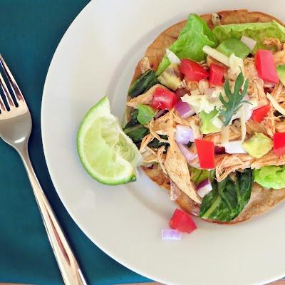 Chicken Tostada Salad | Food≈ Mexican | Pinterest
