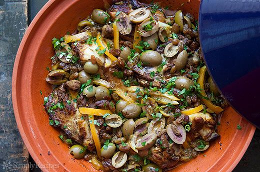 Moroccan Chicken with Lemon and Olives Recipe | Simply Recipes