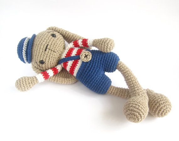 Amigurumi Floppy Bunny Pattern : PATTERN: Bunny in shorts - Long-legged rabbit with floppy ...