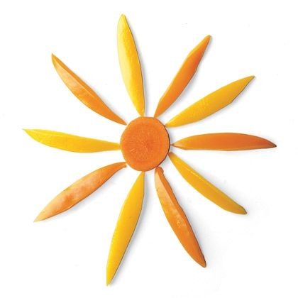 Yellow Pepper Sun - Easy and #Healthy #EarthDay Snack