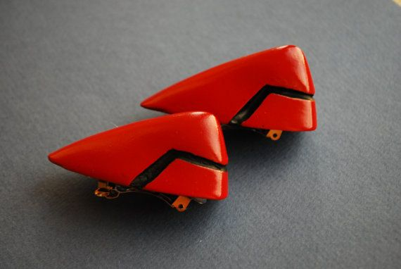 Asuka Langley Soryu hair clips NEON GENESIS by Nahmariell on Etsy
