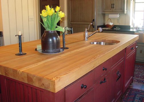 Solid wood counter top For the Home Pinterest