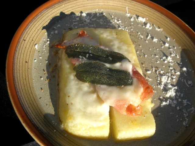 Journey of an Italian Cook: Baked Polenta with Prosciutto and Fontina