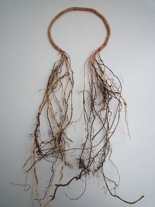 Felicie Colin (BE) -nos racines - racines de bouleau, cuir naturel, argent  - AFEDAP Paris -diplome créateur contemporain 2011