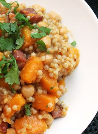Couscous with Crispy Pancetta and Butternut Squash--Seriouseats