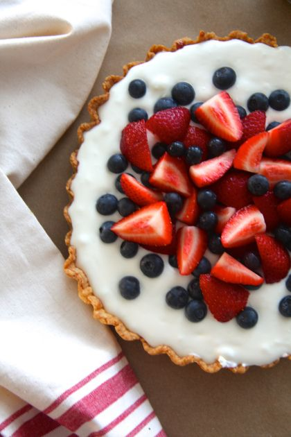 Red, White and Blueberry Tart | Pies and Tarts | Pinterest