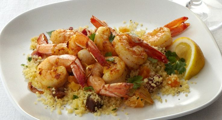 Sweet and Spicy Grilled Shrimp with Smoky Cheddar Grits | Recipe