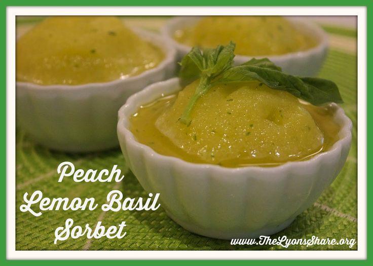 Peach Lemon Basil Sorbet | recipes | Pinterest