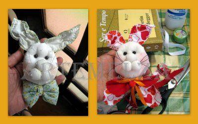 ARTEMELZA - Arte e Artesanato: coelho de fuxico