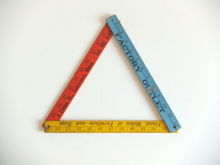 Folding Ruler, Advertising, Red, Blue and Yellow. $11.00, via Etsy.