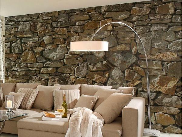 Steinwand Wohnzimmer Selber Machen : Natursteinwand Wohnzimmer Selber Machen  U Dumss