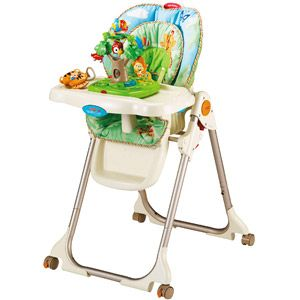 Fisher price rainforest healthy care high chair amp i like this