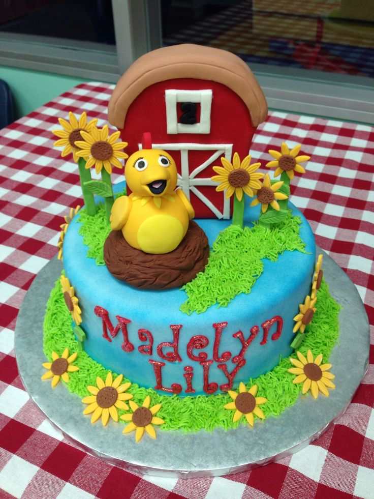 sprout chica birthday cake