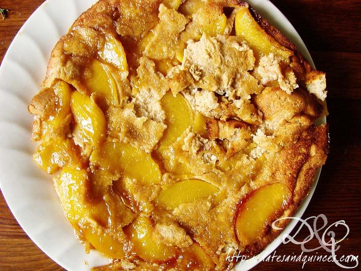 Ricotta & Peach Dutch Baby Pancake | Dates & Quinces | Pinterest